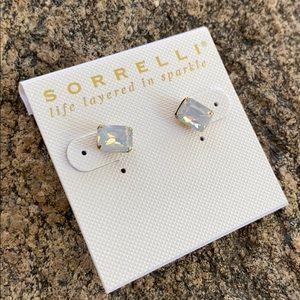 Sorrelli White Opal Essentials Earrings NWT